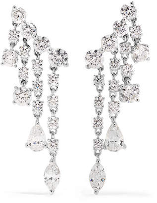 Anita Ko Rain Drop 18-karat White Gold Diamond Earrings