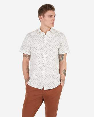 Express Classic Geometric Dot Print Short Sleeve Shirt