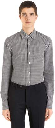 Prada Slim Fit Cotton Gingham Shirt