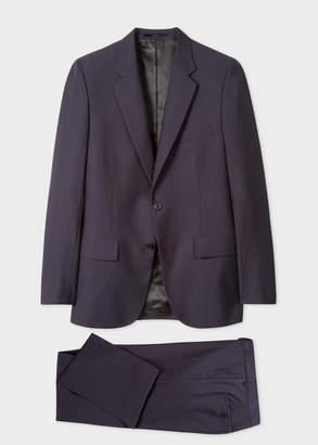 Paul Smith The Mayfair - Men's Classic-Fit Dark Purple Wool-Mohair Suit
