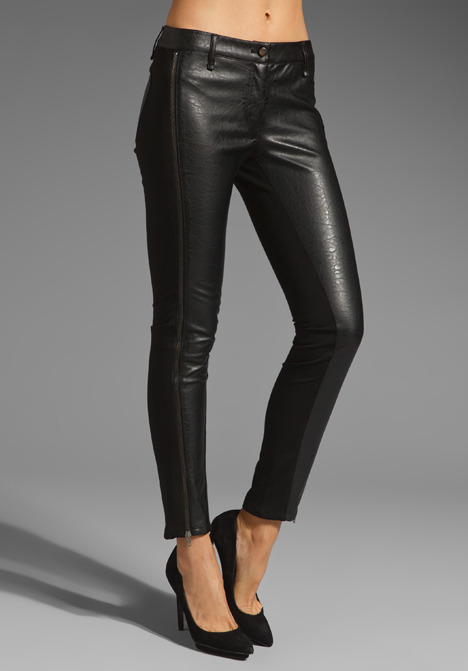 RVN Texture Faux Leather Leggings