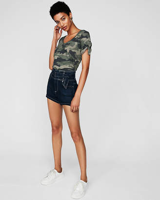 Express One Eleven Camo Rolled Sleeve Tee