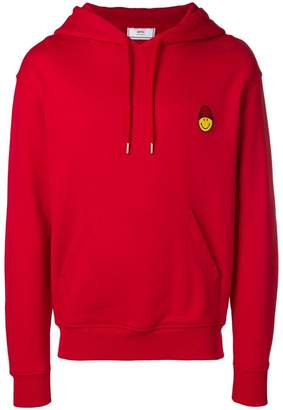 Ami Alexandre Mattiussi Hoodie With Patch Smiley