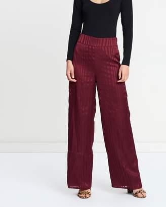 Miss Selfridge Stripe Wide Leg Trousers