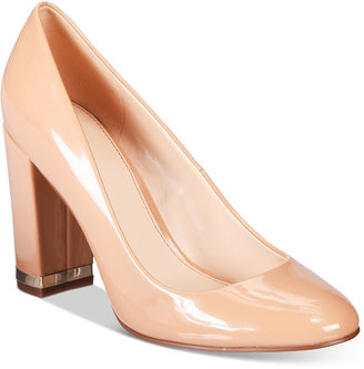 Bar Iii Selena Block-Heel Pumps, Only at Macy's Women's Shoes $79.50 thestylecure.com