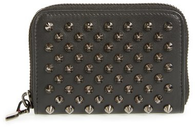 Christian Louboutin  Women's Christian Louboutin 'Panettone' Zip Around Calfskin Leather Wallet - Black