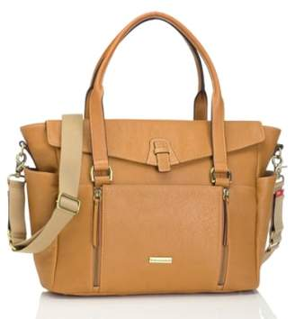 Storksak 'Emma' Leather Diaper Bag