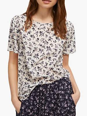 63b61e1a33f French Connection Felicienne T-Shirt, Class Cream/Multi