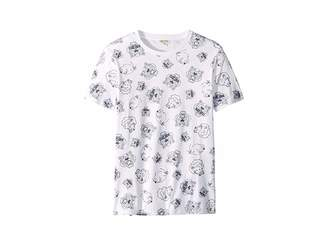 Kenzo All Over Printed Tiger Short Sleeve T-Shirt (Big Kids)