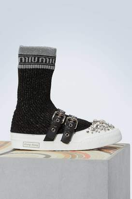 Miu Miu Jewel socks sneakers