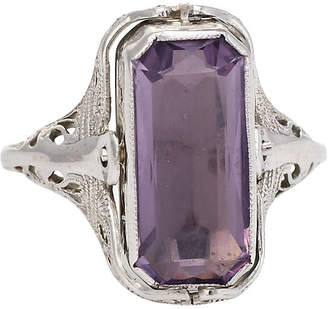 One Kings Lane Vintage Antique Onyx & Amethyst Deco Flip Ring - Precious & Rare Pieces