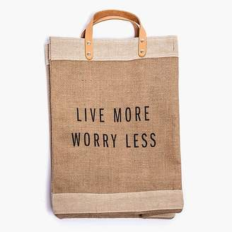 Apolis ApolisTM Live More Worry Less market bag