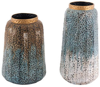 ZUO Set Of 2 Antique Vases Multicolor