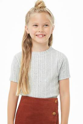 Forever 21 Girls Ribbed Brushed Knit Top (Kids)