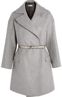 Golden Goose Belted Wool-Blend Coat