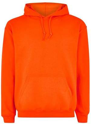 Topman Mens Orange Overhead Hoodie