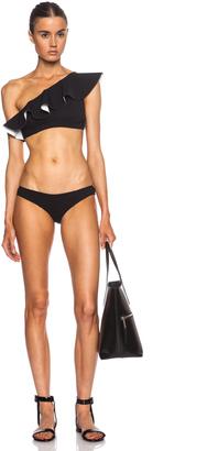 Lisa Marie Fernandez Arden Flounce Nylon-Blend Bikini $395 thestylecure.com