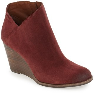 Women's Lucky Brand 'Yakeena' Zip Wedge Bootie $98.95 thestylecure.com