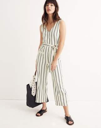 Madewell Striped Pull-On Jumpsuit
