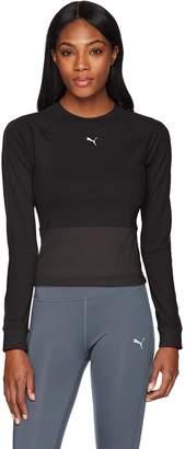 Puma Women's En Pointe Tight Long Sleeve Shirt, Black, M