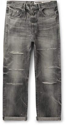 Neighborhood Claw Distressed Selvedge Denim Jeans - Men - Gray