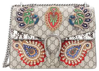 Gucci Dionysus GG Supreme embroidered coated canvas shoulder bag