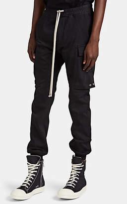 Rick Owens Men's Cotton Drawstring Cargo Jogger Pants - Black