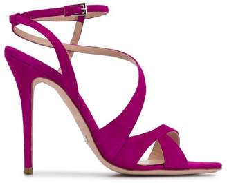 59ca47d27a4 Purple Strappy Heels - ShopStyle