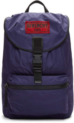 Givenchy Navy Nylon Obsedia Backpack