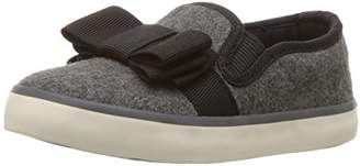 Hanna Andersson Girls' UNA Bow Slip-on Skate Shoe
