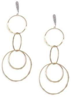 Meira T Diamond, 14K Yellow& White Gold Drop Earrings