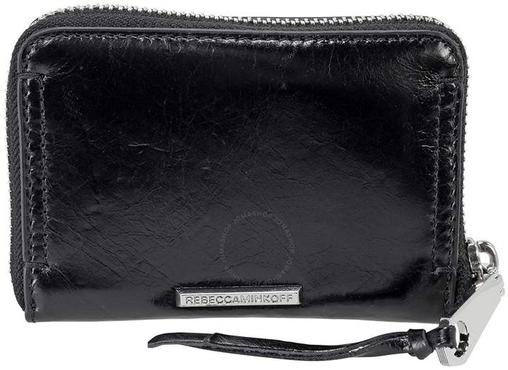 Rebecca Minkoff Mini Regan Leather wallet - Black - ONE COLOR - STYLE