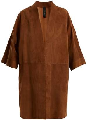GIANI FIRENZE Kimono-sleeve suede coat