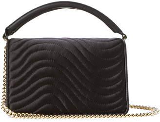 Diane von Furstenberg Black Soiree Quilted Top Handle Bag