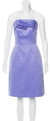 Lela Rose Strapless Mini Dress Rose Strapless Mini Dress
