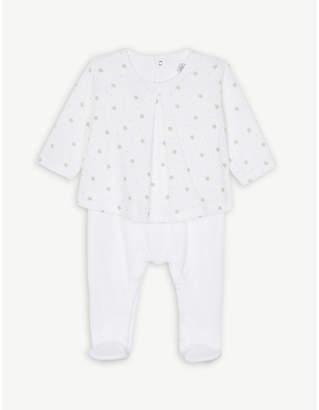 Petit Bateau Star print cotton blouse babygrow newborn-12 months