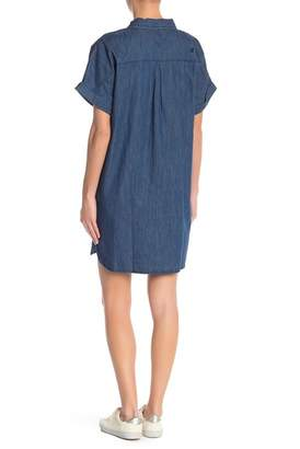 Volcom Yo Shortie Denim Shirt Dress