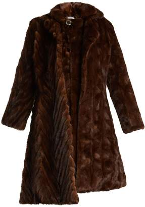 Double-layered reworked mink-fur coat