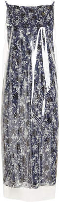 Calvin Klein Printed Dress with Transparent Overlay
