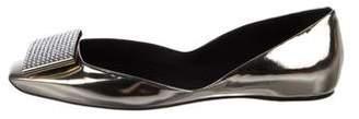 Roger Vivier Metallic Leather Flats