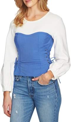 1 STATE 1.STATE Lace-Up Corset Top