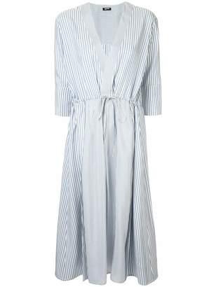 Jil Sander Navy striped midi dress