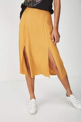 Cotton On Woven Julia Split Midi Skirt