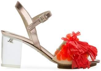 DELPOZO fringed open-toe sandals