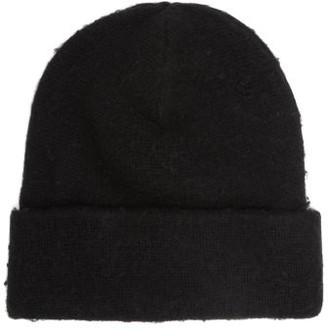 Acne Studios - Pilled Wool Blend Beanie Hat - Mens - Black