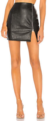 by the way. Melissa Zip Up Faux Leather Mini Skirt