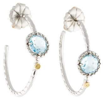 Tacori Blue Topaz Island Rains Hoop Earrings