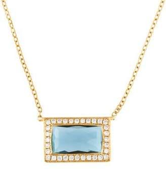 Ippolita 18K Topaz & Diamond Baguette Pendant Necklace