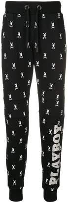 Philipp Plein Playboy printed track trousers