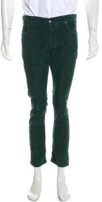 Isaia Corduroy Flat Front Pants